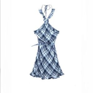Max Studio London Ruffle Trim Belted Halter Dress